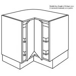 meuble d angle 224 2 plateaux tournants 224 90 degr 233 e