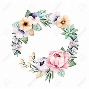 Wreath Clipart Pastel Flower - Pencil And In Color Wreath ...