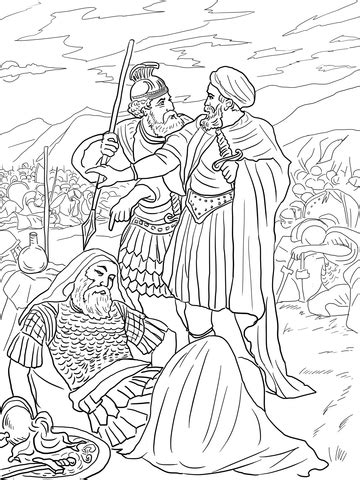 david spares king saul coloring page  printable