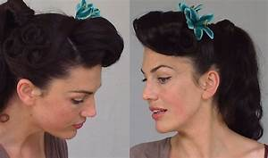 Pin Up Ponytail - Easy & Practical Vintage Hairstyle - YouTube