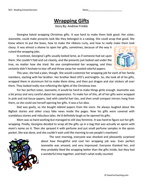 English Reading Comprehension Exercises Grade 9  More Reading Comprehension Book Level 1 Grade