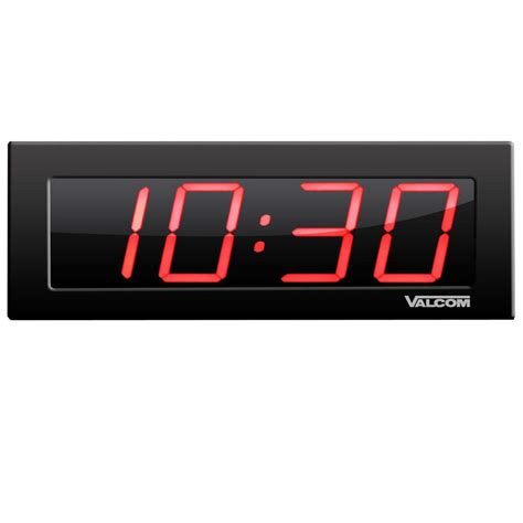 home depot kitchen faucets valcom ip poe 4 in 4 digit digital wall clocks vc