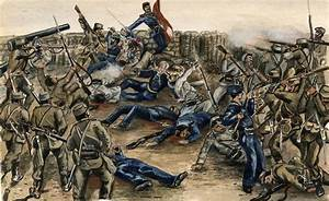 Superb Old American Civil War Painting - Sulis Fine Art