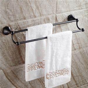 Accessoire Salle De Bain Cuivre : style europ en accessoires de salle de bain en cuivre noir double barre de serviette r tro ~ Melissatoandfro.com Idées de Décoration