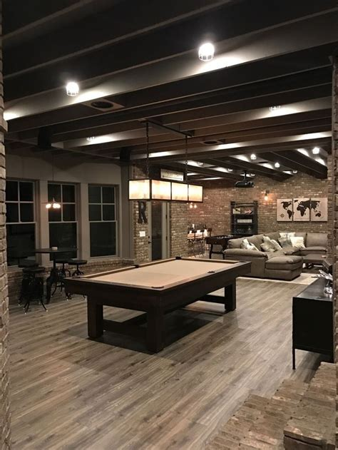 Home Design Ideas Basement by 55 Industrial Finished Basement Atlanta Basement Design