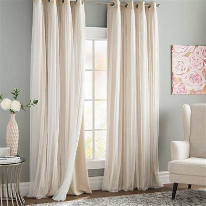 Curtain Grommet Panels Curtains Blackout Sheer Solid
