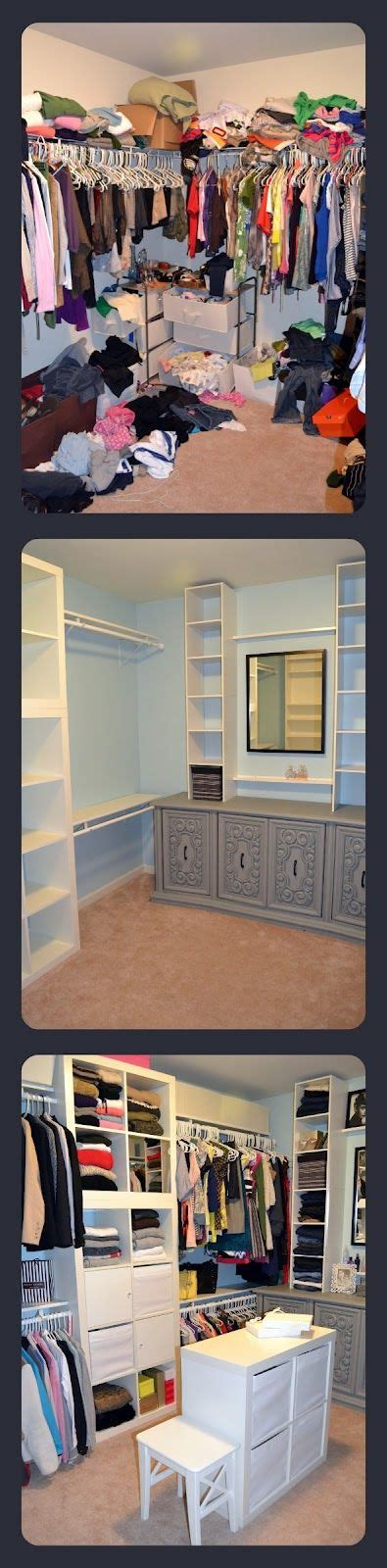 Cheap Walk In Closet Organization Ideas by Closet Makeover With Ikea Expedit Cheap Closet Buit Ins
