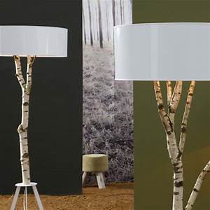 Inexpensive diy floor lamp ideas to make at home for Wood tree floor lamp