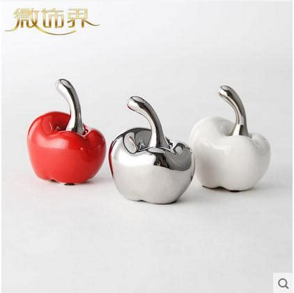 white red ceramic apple home decor crafts room decoration ceramic ornament porcelain figurines