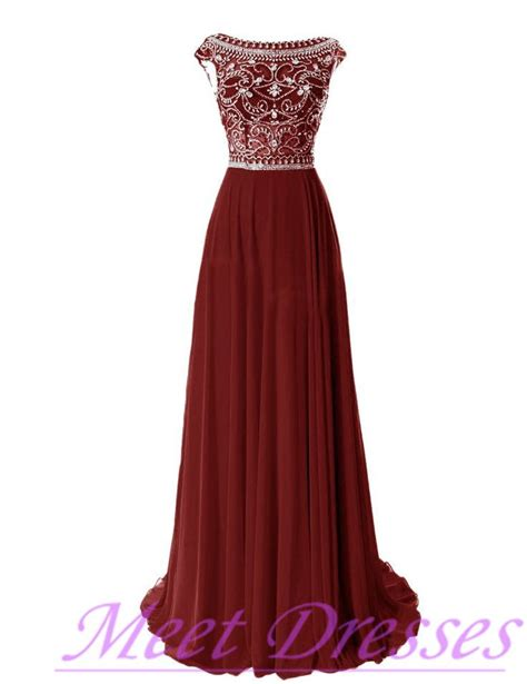 wine colored evening gown wine evening gowns chiffon silver beaded