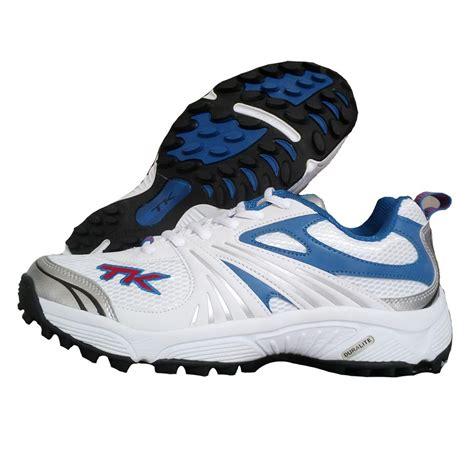 TK Bat Lite Stud Cricket Shoes Blue and White - Buy TK Bat