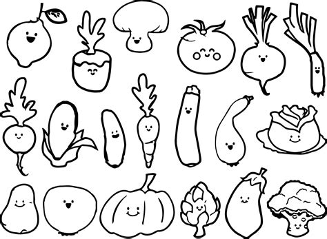 Image Result For Black And White Drawings Of Vegetables
