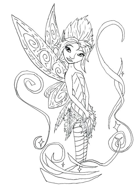 gothic fairy coloring pages printable  getcoloringscom