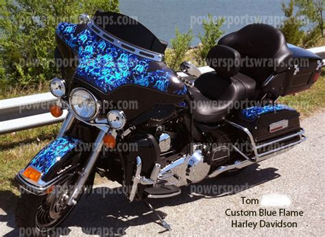 Davidson Vinyl Graphics by Harley Davidson Bagger Blue Vinyl Wrap Ultra