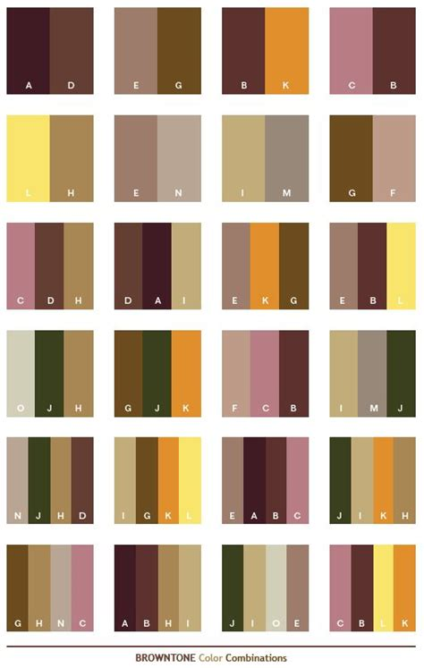 Color Schemes  Brown Tone Color Schemes, Color