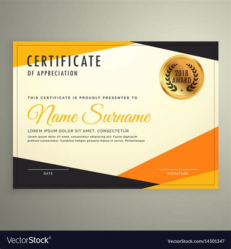 certificate design template  clean modern vector image