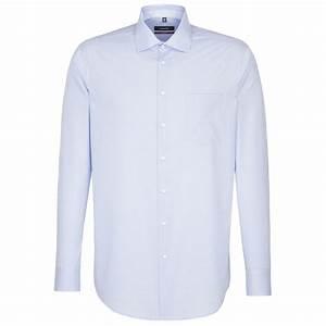 Chemise Homme A Carreau : seidensticker chemise droite carreau vichy bleu ciel ~ Melissatoandfro.com Idées de Décoration