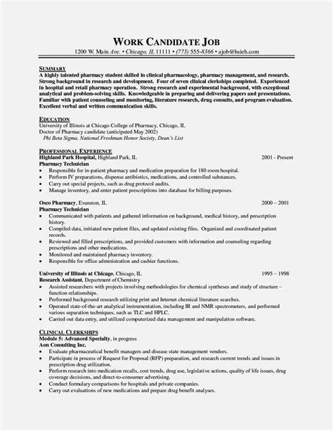 pharmacy dispenser cv exles uk resume template