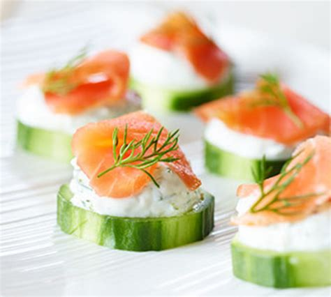 cucumber canapes smoked salmon cucumber canapés better nutrition