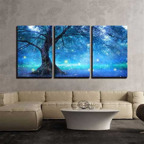wall fairy tree  mystic forest canvas art wall