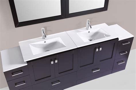 "84"" Redondo Espresso Double Modern Bathroom Vanity With 2"