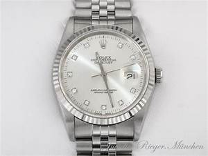 Uhr Rolex Herren : rolex uhr date just stahl weiss gold diamanten 36mm herren ~ Kayakingforconservation.com Haus und Dekorationen