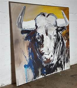 Stier Bilder Auf Leinwand : taurus expressive zeitgen ssische malerei auf xl ~ Whattoseeinmadrid.com Haus und Dekorationen