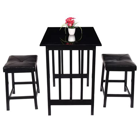 pcs kitchen counter height dining set table   chairs