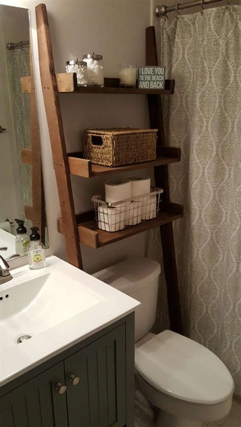 Small Bathroom Shelf by The Toilet Leaning Ladder Shelf Made To Order Decor