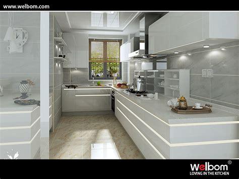 China Intelligent Gloss Polyurethane Kitchen Cabinet