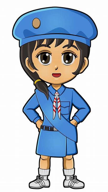 Japan Guides Clipart Scout Scouts Paper Doll