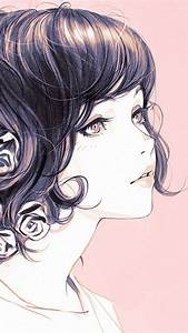 az01-girl-flower-lady-pink-ilya-kuvshinov-illustration-art