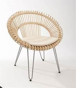Fauteuil En Rotin : fauteuil rotin style 50 brin d 39 ouest ~ Teatrodelosmanantiales.com Idées de Décoration