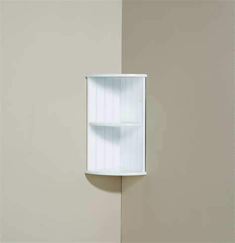 corner shelf cabinet bathroom furniture two tier minimalist natural wooden corner shelf