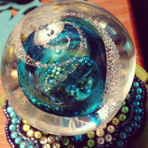 remembrance globe hand blown glass  ashes encased