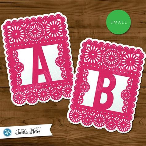 small pink white papel picado printable banner