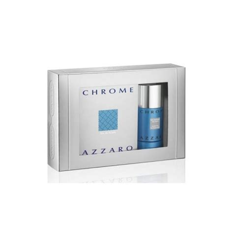 azzaro chrome eau de toilette 100ml deodorant spray 150ml gift set mens from base uk