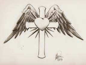 Cross with Wings Drawings