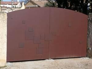 Portail Fer Forgé Plein : portail tol plein motifs portes portails et portillons ~ Dailycaller-alerts.com Idées de Décoration
