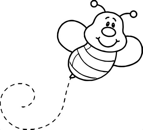 bee coloring pages coloringbay