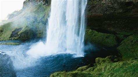 wallpaper waterfall   wallpaper hills rocks
