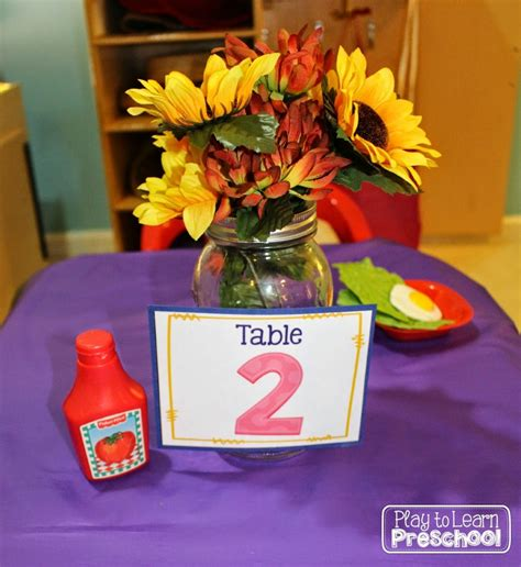 cuisine center restaurant dramatic play center for preschoolers