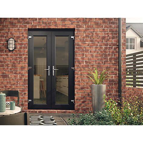 Euramax Upvc French Door Grey 6ft Wickescouk
