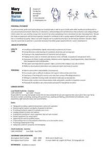 nurses resume format pdf nursing cv template resume exles sle registered resumes healthcare work