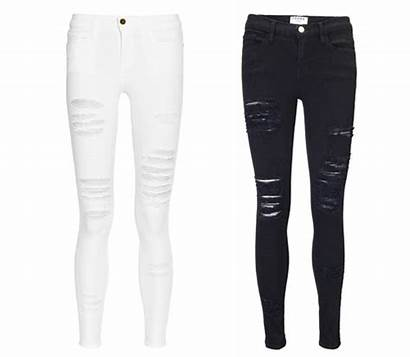 Ripped Frame Denim Jeans Le Distressed Jet