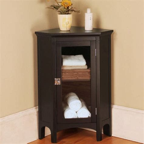 Free Standing Wood Storage Cabinets by 20 Corner Bathroom Floor Cabinet Design Ideas With Pictures