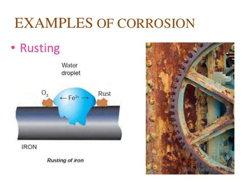 corrosion metals prevention examples metal rusting chemical copper reactions means