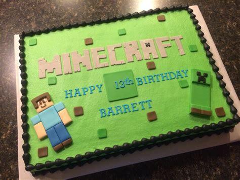 minecraft birthday cake decorations minecraft cake birthday cake ideas