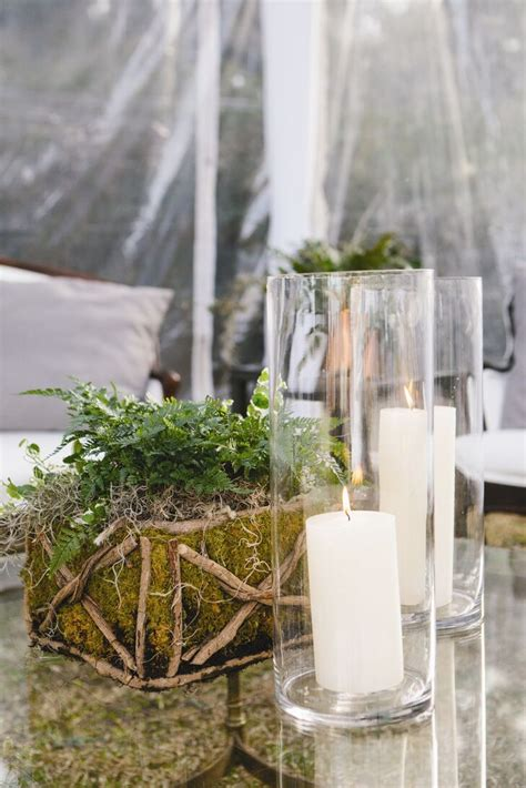 Moss And Fern Centerpieces