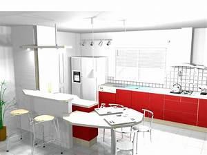 Bar Séparation Separation Cuisine Salon : ambiance cuisine meubles contarin ~ Dallasstarsshop.com Idées de Décoration
